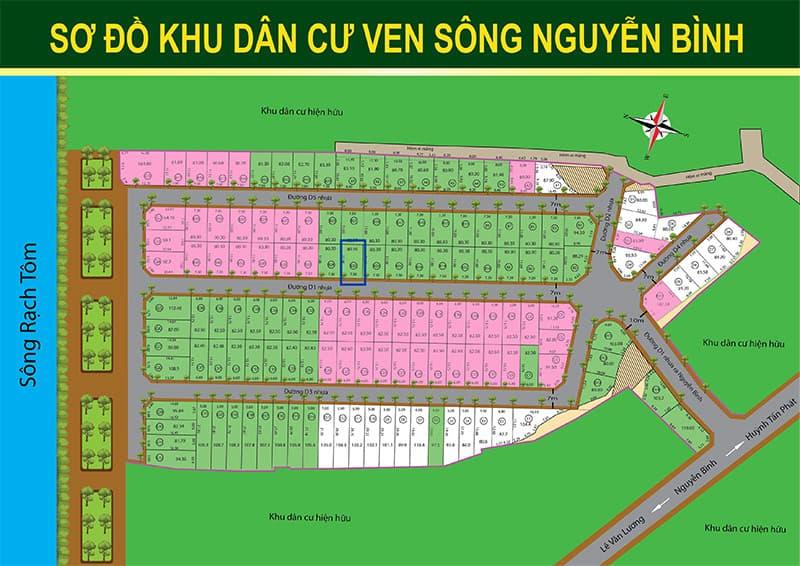 Đất nền khu dân cư ven sông Nguyễn Bình