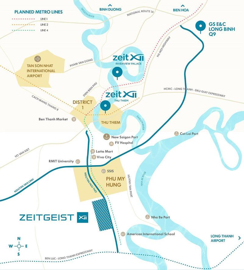 Từ dự án GS Metro City chỉ mất 15 phút để di chuyển vào các khu vực trung tâm thành phố
