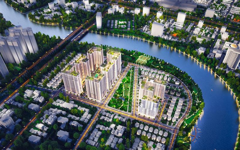 Dự án GS Metro City Nhà Bè được chia thành 3 khu vực chính