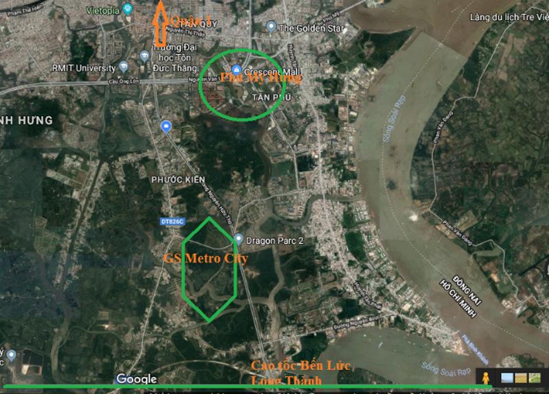 GS Metro City sở hữu vị trí vàng mặt tiền đường quận 7