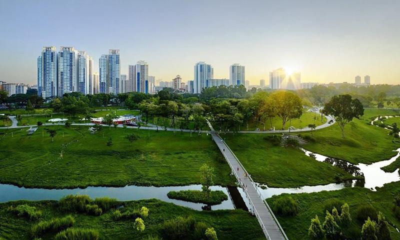Mảng xanh là lợi thế khi sống tại khu đô thị GS Metro City